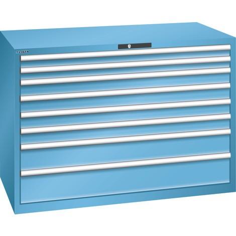 LISTA Schubladenschrank 78x36E, (BxTxH) 1431x725x1000mm, 8 Schubladen, Fronthöhen 75-200mm
