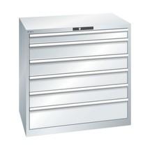 LISTA Schubladenschrank, Schubladen 1x100 + 4x150 + 1x200 mm, TK je 200 kg