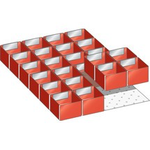 LISTA Set Einsatzkästen 18x27E, (BxTxFH) 306x459x75mm, 24-teilig