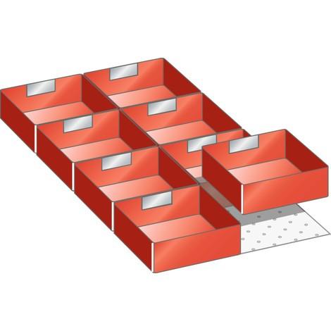 LISTA Set Einsatzkästen 18x36E, (BxT) 306x612mm, 8-teilig