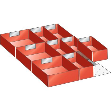 LISTA Set Einsatzkästen, (BxTxFH) 357x459x95mm, 10-teilig