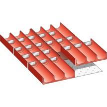 LISTA Set Mulden 18x27E, (BxTxFH) 306x459x50mm, 26-teilig