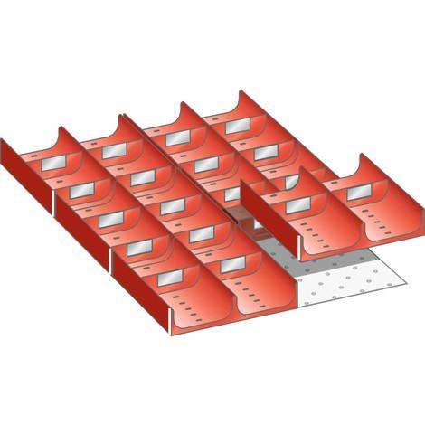 LISTA Set Mulden 18x27E, (BxTxFH) 306x459x50mm, 26 -teilig