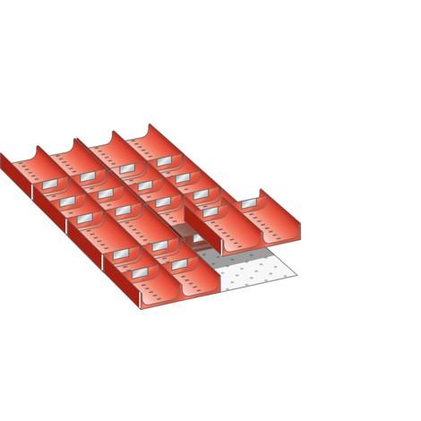 LISTA Set Mulden 18x36E, (BxTxFH) 306x612x50mm, 28-teilig