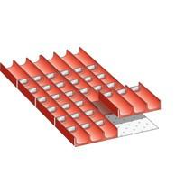 LISTA Set Mulden 18x36E, (BxTxFH) 306x612x50mm, 38-teilig