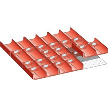 LISTA Set Mulden 27x27E, (BxTxFH) 459x459x50mm, 29-teilig