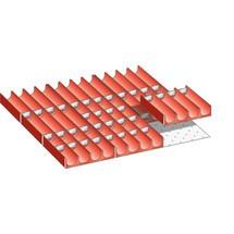 LISTA Set Mulden 27x27E, (BxTxFH) 459x459x50mm, 49-teilig