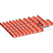 LISTA Set Mulden 36x27E, (BxTxFH) 612x459x50mm, 42-teilig
