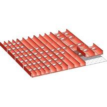 LISTA Set Mulden 36x36E, (BxTxFH) 612x612x50mm, 76-teilig