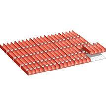 LISTA Set Mulden 45x36E, (BxTxFH) 765x612x50mm, 100-teilig