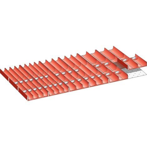 LISTA Set Mulden 54x27E, (BxTxFH) 918x459x75mm, 58-teilig