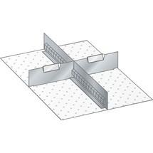 LISTA Set Schlitzwände und Trennbleche 18x27E, (BxT) 306x459mm, 1 Schlitzwand, 2 Trennbleche