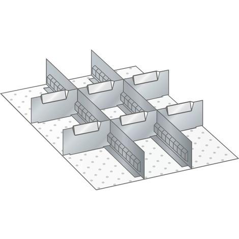 LISTA Set Schlitzwände und Trennbleche 18x27E, (BxT) 306x459mm, 2 Schlitzwände, 6 Trennbleche