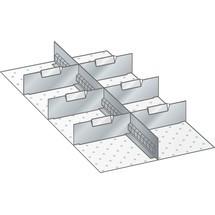 LISTA Set Schlitzwände und Trennbleche 18x36E, (BxT) 306x612mm, 1 Schlitzwand, 6 Trennbleche