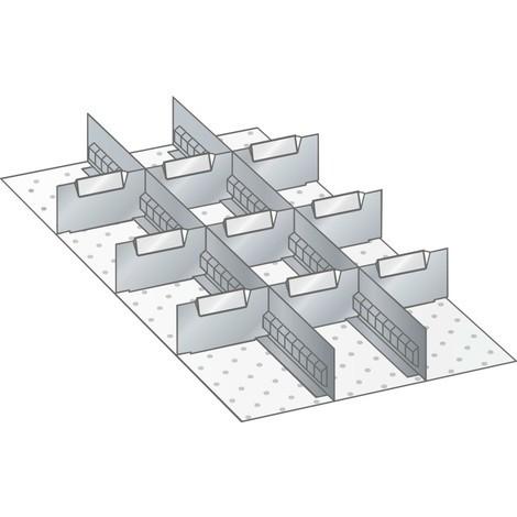 LISTA Set Schlitzwände und Trennbleche 18x36E, (BxT) 306x612mm, 2 Schlitzwände, 9 Trennbleche