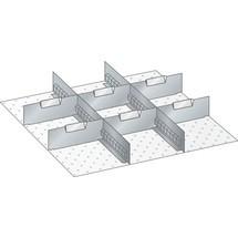 LISTA Set Schlitzwände und Trennbleche 27x27E, (BxT) 459x459mm, 2 Schlitzwände, 6 Trennbleche