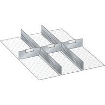 LISTA Set Schlitzwände und Trennbleche 27x36E, (BxT) 459x612mm, 2 Schlitzwände, 3 Trennbleche