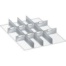 LISTA Set Schlitzwände und Trennbleche 27x36E, (BxT) 459x612mm, 3 Schlitzwände, 8 Trennbleche