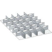 LISTA Set Schlitzwände und Trennbleche 27x36E, (BxT) 459x612mm, 4 Schlitzwände, 25 Trennbleche