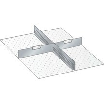 LISTA Set Schlitzwände und Trennbleche 27x36E, (BxTxFH) 459x612x250mm, 1 Schlitzwand, 2 Trennbleche