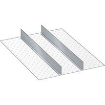 LISTA Set Schlitzwände und Trennbleche 27x36E, (BxTxFH) 459x612x250mm, 2 Trennwände