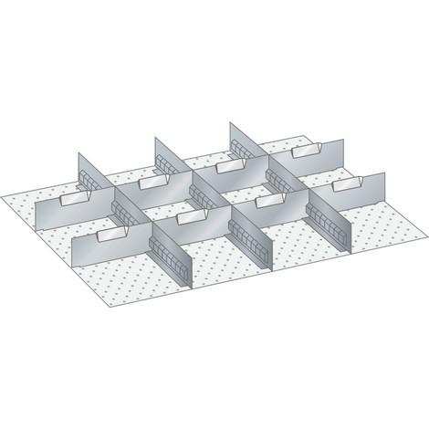 LISTA Set Schlitzwände und Trennbleche 36x27E, (BxT) 612x459mm, 3 Schlitzwände, 8 Trennbleche