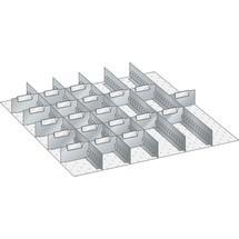 LISTA Set Schlitzwände und Trennbleche 36x36E, (BxT) 612x612mm, 5 Schlitzwände, 20 Trennbleche