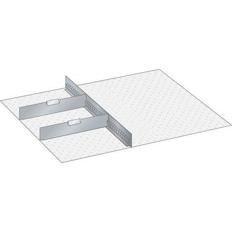 LISTA Set Schlitzwände und Trennbleche 36x36E, (BxTxFH) 612x612x250mm, 1 Schlitzwand, 2 Trennbleche