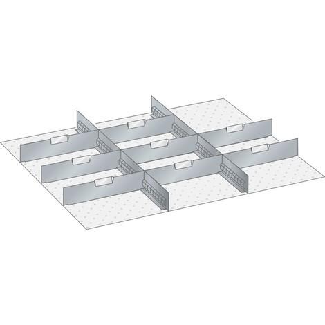 LISTA Set Schlitzwände und Trennbleche 45x36E, (BxT) 765x612mm, 2 Schlitzwände, 8 Trennbleche