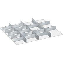 LISTA Set Schlitzwände und Trennbleche 45x36E, (BxT) 765x612mm, 4 Schlitzwände, 15 Trennbleche