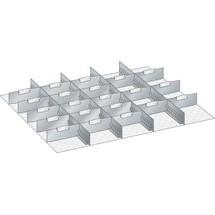 LISTA Set Schlitzwände und Trennbleche 45x36E, (BxT) 765x612mm, 4 Schlitzwände, 21 Trennbleche