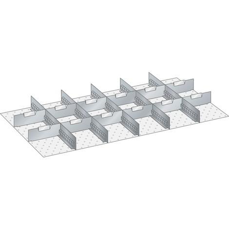 LISTA Set Schlitzwände und Trennbleche 54x27E, (BxT) 918x459mm, 5 Schlitzwände, 12 Trennbleche