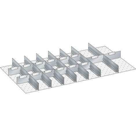 LISTA Set Schlitzwände und Trennbleche 54x27E, (BxT) 918x459mm, 7 Schlitzwände, 14 Trennbleche
