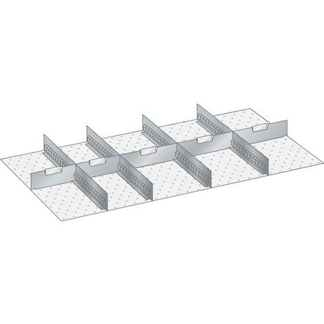 LISTA Set Schlitzwände und Trennbleche 54x27E, (BxTxFH) 918x459x300mm, 4 Schlitzwände, 5 Trennbleche