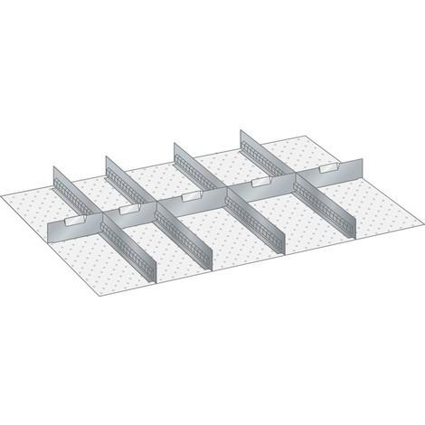 LISTA Set Schlitzwände und Trennbleche 54x36E, (BxT) 918x612mm, 4 Schlitzwände, 5 Trennbleche
