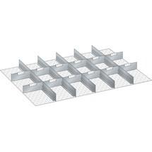 LISTA Set Schlitzwände und Trennbleche 54x36E, (BxT) 918x612mm, 5 Schlitzwände, 12 Trennbleche