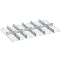 LISTA Set Schlitzwände und Trennbleche 64x36E, (BxT) 1088x612mm, 5 Schlitzwände, 6 Trennbleche