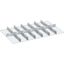 LISTA Set Schlitzwände und Trennbleche 64x36E, (BxT) 1088x612mm, 6 Schlitzwände, 7 Trennbleche