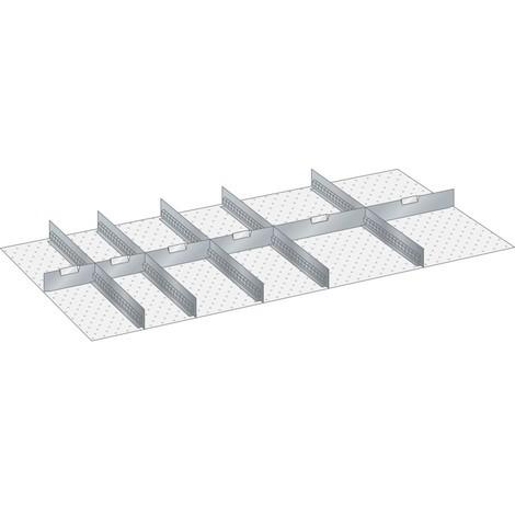 LISTA Set Schlitzwände und Trennbleche 78x36E, (BxT) 1326x612mm, 5 Schlitzwände, 8 Trennbleche