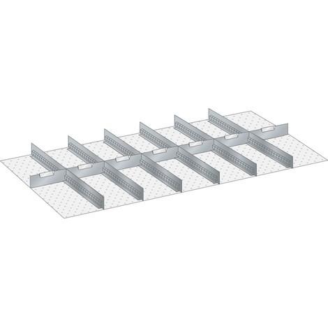 LISTA Set Schlitzwände und Trennbleche 78x36E, (BxT) 1326x612mm, 6 Schlitzwände, 7 Trennbleche