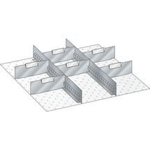 LISTA Set Schlitzwände und Trennbleche, (BxT) 459x510mm, 2 Schlitzwände, 6 Trennbleche