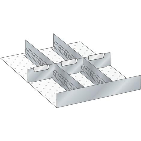LISTA Set Schlitzwände und Trennbleche, (BxTxFH) 357x459x95mm, 3 Schlitzwände, 3 Trennbleche