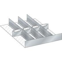 LISTA Set Schlitzwände und Trennbleche, (BxTxFH) 357x459x95mm, 4 Schlitzwände, 4 Trennbleche