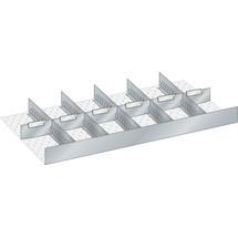 LISTA Set Schlitzwände und Trennbleche, (BxTxFH) 867x459x95mm, 6 Schlitzwände, 6 Trennbleche