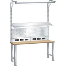 LISTA Universeller Aufbau für Arbeitstische und Werkbänke, Höhe 1590mm,  Typ D / Schuko