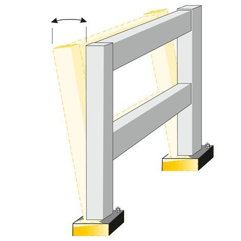 Élément élastique pour barrière anticollision SWING