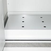 Lochblecheinsatz für Sicherheitsschrank Typ 90