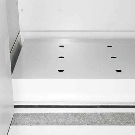 Lochblecheinsatz für Sicherheitsschrank Typ 90, Edelstahl