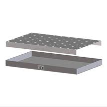 Lochblechrost für Auffangwanne aus Stahl für Kleingebinde