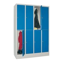 Locker, 8 vakken, 4 rijen, compartimentbreedte 300 mm
